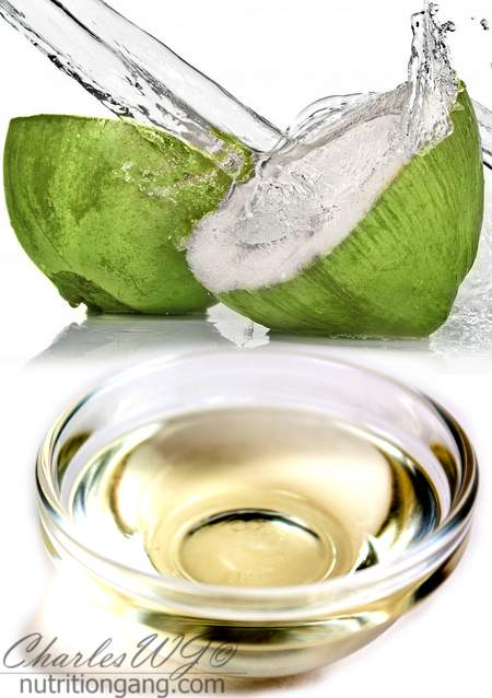 Coconut water and oil