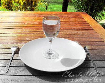 Fasting, is an empty plate all you need? - Original picture by Jean Fortunet