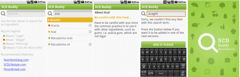 SCD Buddy on Android - Miniatures